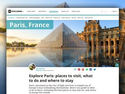 Love exploring — Destination page design marazita justin marazita esoteric designs website web design ux ui minimalism travel