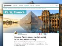 Love exploring — Destination page design