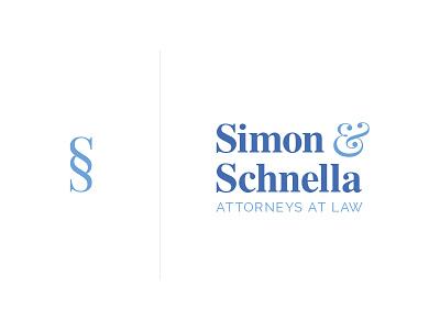 Simon & Schnella logo esoteric designs justin marazita marazita lawyer logotype logo branding icon brand identity
