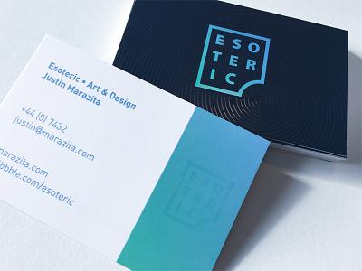 Spot UV business cards esoteric designs justin marazita marazita logomark logo designer circles spot uv icon business card branding brand identity
