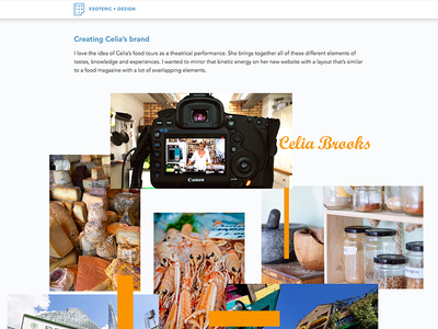 CASE STUDY: Building a website for a food professional website web design ux ui tour minimalism marazita justin marazita food esoteric designs art director case study