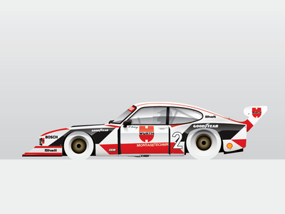 Zakspeed Capri ford automotive auto racecar car capri illustration