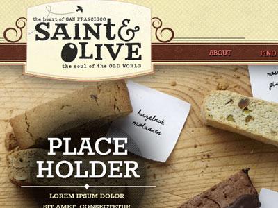 Saint & Olive biscotti website food restaurant web