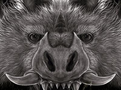 Stain! - The face of evil pencil horns tee design illustration sketchbook pro ipadpro demon devil evil horror art monster bat