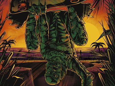 Stain! - Rad Creature from the Black Lagoon graphic design animal art tee design tee shirt horror movie creature from the black lagoon creature skate or die skater skateboard illustration photoshop photoshop art adobe photoshop