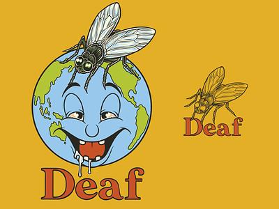 Deaf. - Deaf Worldwide worldwide world yellow colorful graphic tee graphic  design fly sick planet ipadart ipadpro procreate tee design photoshop graphic design illustration photoshop art adobe photoshop
