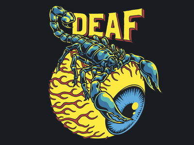 Deaf. - Trust no one photoshop art logo animal art design typography lettering graphic design tee design illustration ipad pro procreate art procreate eyeball scorpion