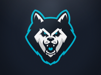 husky mascot logo by ania de herrera dribbble Cool Letter H Logos cool unused band logos