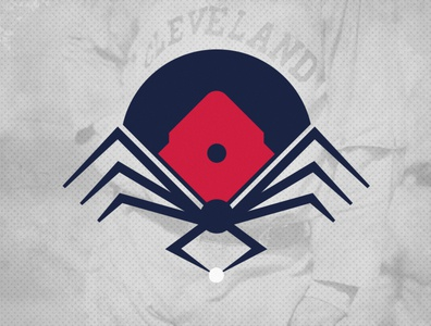 Cleveland Spiders Secondary Logo logo branding design cleveland indians cleveland illustration sports baseball