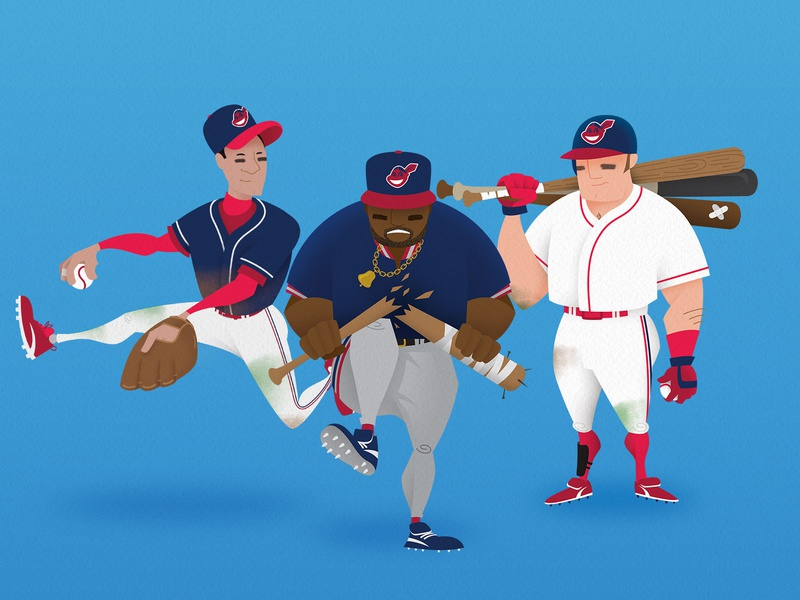 Cleveland Classics ohio ball vector 90s design sports cleveland indians illustration baseball cleveland