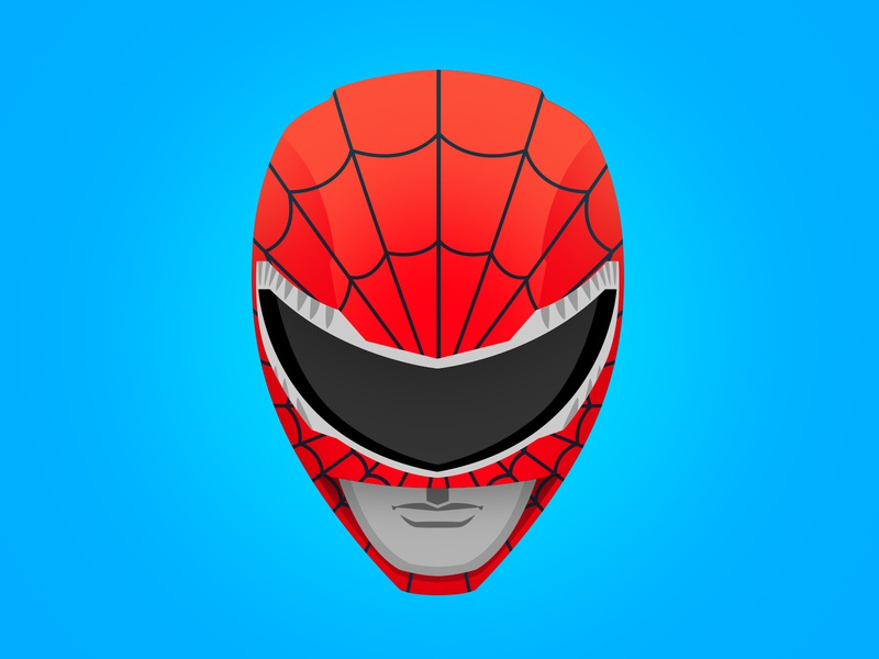 Go Go Spider-Ranger! vector character color illustrator icon vectorart red 90s mashup illustration avengers marvelcomics marvel powerrangers comicbook superhero spiderman
