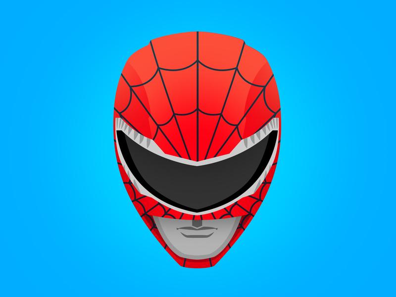Go Go Spider-Ranger! vector character color illustrator icon vectorart red 90s mashup illustration avengers marvelcomics marvel powerrangers comicbook superhero spiderman