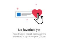 No favorites yet emptystate uxdesign icons flat illustration ui