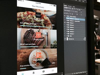 Thanx App 3.0 Merchants screen thanx mobile ios iphone loyalty app merchants restaurants rewards