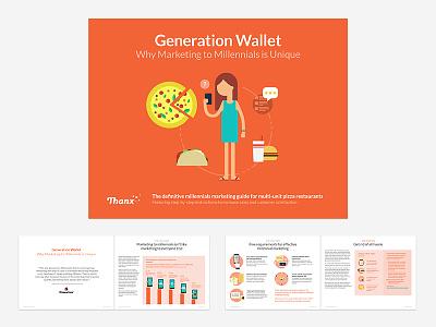 Thanx Pizza Campaign eBook 2 marketing publication layout ebook graphs data vis illustration flat
