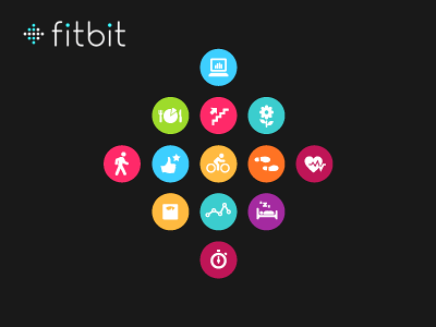 Fitbit logo icons