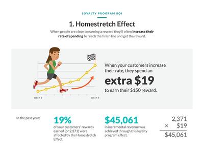 Homestretch Effect data vis data visualization metrics thanx loyalty rewards