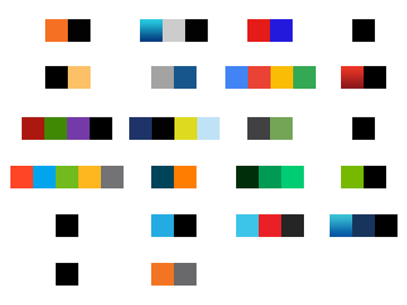 Competitive Analysis: Colors branding palettes swatches compare colors