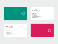 Prose business cards & colors