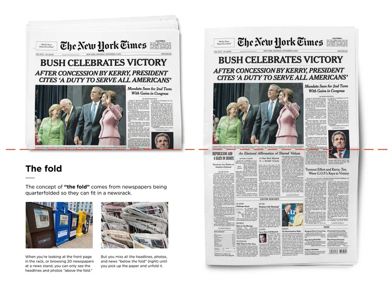 The fold design education the fold print newspapers