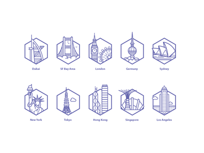 city landmarks icons building landmarks cities city