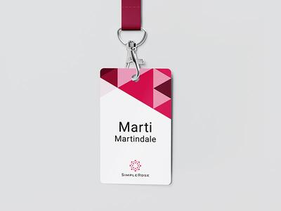 SimpleRose badge id card badge logo identity branding