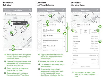 Thanx Locations wireframes map ios mobile iphone app wireframe ui ux thanx