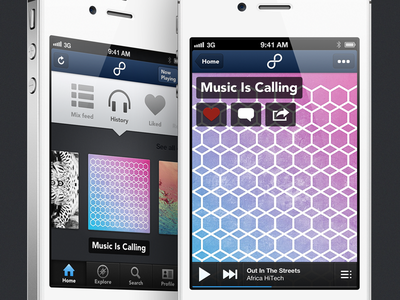8tracks iPhone App iphone ios mobile music 8tracks