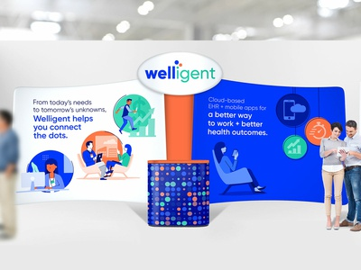 Welligent small trade show booth
