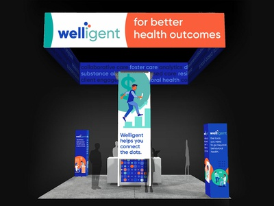 Welligent large trade show booth
