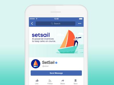 SetSail branded graphics (Facebook)