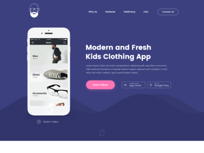 Daily UI Challenge #003 - Landing Page