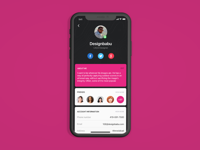 Daily UI Challenge #006 - User Profile