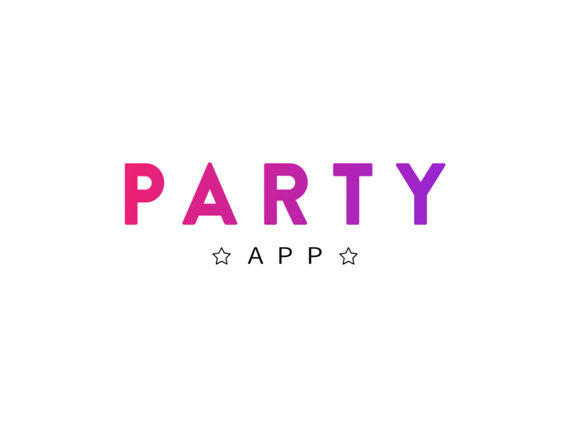 Logo - Party App app logo nightlife nightclub logos night club logo design branding logodesign logo mark logotype design vector logo a day mobile app event logo party event party logo design concept logo designer logo design logo