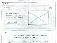 Digital agency wireframe