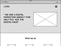 Digital Agency - Wireframe
