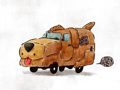 Mutts Cutts water color wheels character design van car puppy jim carrey illustration dog mutts cutts cutts mutts dumb and dumber