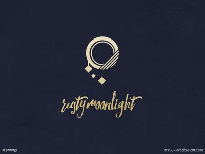 Emblem Design : rusty moonlight symbol music emblem moon circle gold deco