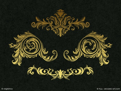 Decoration Design : MUSA gold deco music