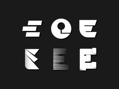 Letterform Exploration 'E'