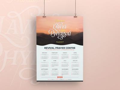 Calendar 2020 'Lawei ba phyrnai' (Variant 2)