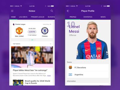 Kickee Football App
