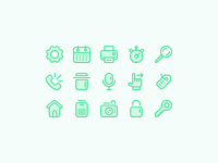 Outlined Icons for Web and Mobile apps