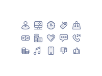 Outlined Icons for E-commerce applications