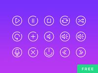 Audio Controls - 25 Free Vector Icons
