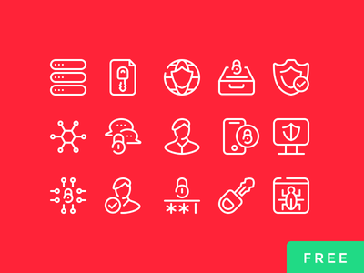 Cyber Security - Part 01 protection bags user virus freebie free psd vector icons security cyber security