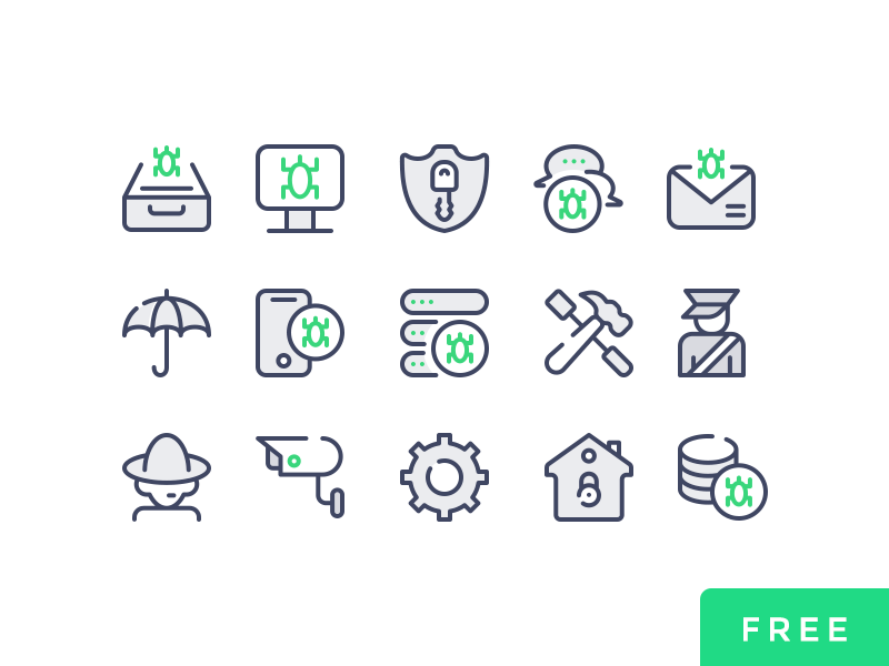 Cyber Security Part 02 Free security psd electronic threats cyber security ui free vector icons