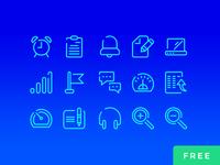 Neon blue ui icons free 03