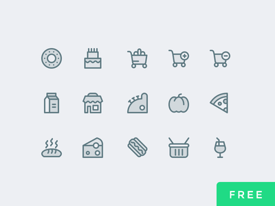 Supermarket Icons Free freeby vector ui store psd free icons supermarket