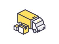 Truck transportation delivery car truck